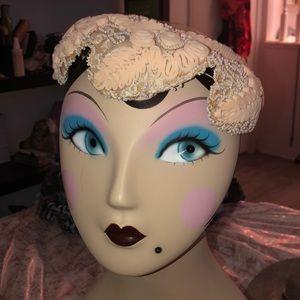 Tan/cream Vintage hat
